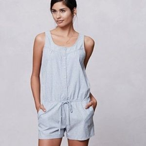 Anthropologie Chambray Romper L